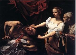 カラヴァッジョの絵画「ユディトとホロフェルネス」.jpg